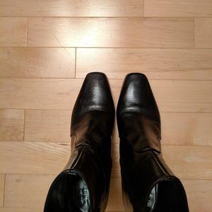 Lumiani Black Napa Leather Booties - extra photo